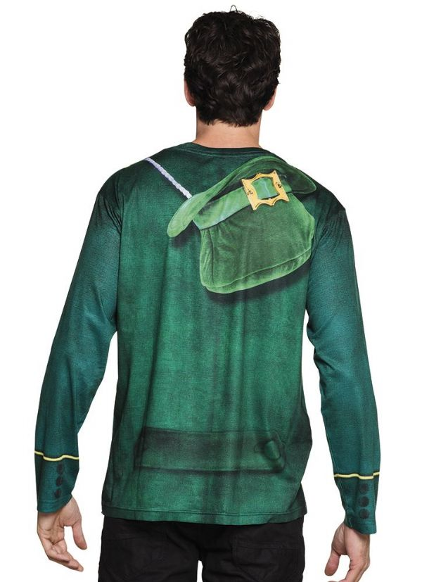 Mens Irish man Outfit Top for St Patricks Days Ireland Fancy Dress Costume Photorealistic shirt